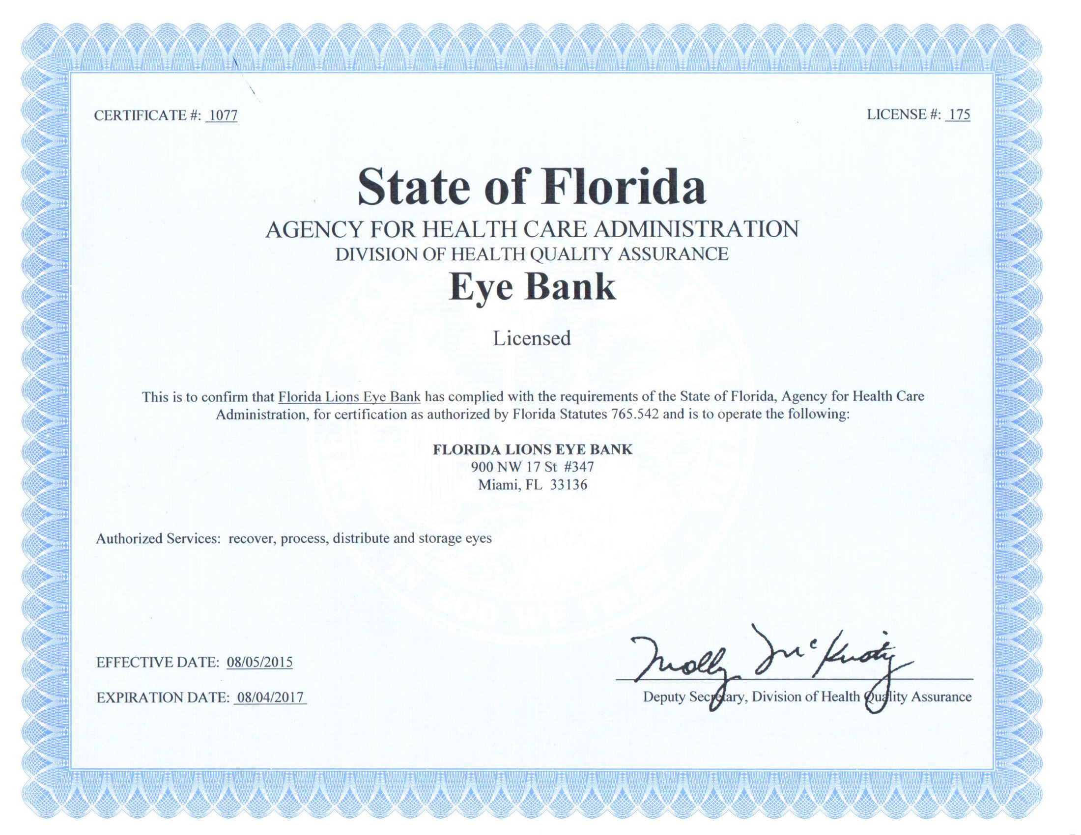Certificate Of Registration Florida Best Design